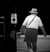 Crosswalk Photos - The Pedestrian by Lenore Senior