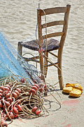 Wooden Chair Prints - The place of the fisherman Print by Joana Kruse