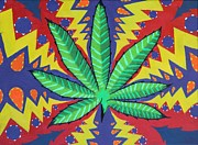 Weed Canvas Art - The Pot by Landon Clary