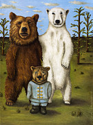 Grizzly Bear Paintings - The Pretender 3 by Leah Saulnier The Painting Maniac