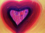 Purple Heart Painting Posters - The Purple Heart Poster by Alexia Neves