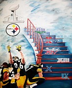 Pittsburgh Steelers Paintings - The Quest by Charis Kelley