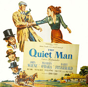 Arguing Prints - The Quiet Man, John Wayne, Maureen Print by Everett