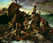 Theodore Framed Prints - The Raft of the Medusa Framed Print by Theodore Gericault