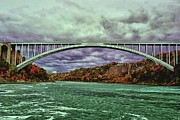 Rainbow Bridge - Tokyo Posters - The Rainbow bridge Poster by Tom Prendergast