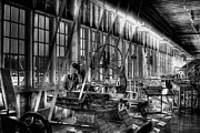 Machine Shop Art - The Red Barn of the Boeing Company IV by David Patterson