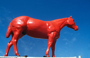Equine Sculpture Photo Prints - The red horse Print by Carl Purcell