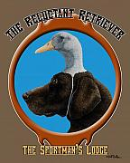 Dog Posters - The Reluctant Retriever... Poster by Will Bullas