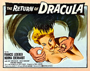 1950s Movies Acrylic Prints - The Return Of Dracula, Francis Lederer Acrylic Print by Everett