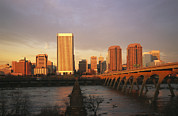 Skylines Metal Prints - The Richmond, Virginia Skyline Metal Print by Medford Taylor