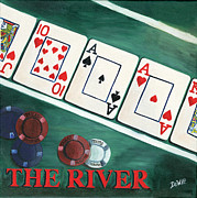 Playing Cards Painting Framed Prints - The River Framed Print by Debbie DeWitt