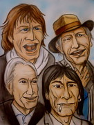 Band Drawings Originals - The Rolling Stones by Pete Maier