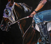Jockey Painting Originals - The Rookie by Stephanie Come-Ryker
