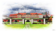 Polish Culture Framed Prints - The Royal Castle in Warsaw Framed Print by Viktor Korostynski