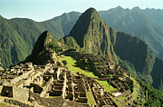 Built Structure Photo Prints - The Ruins Of Machu Picchu, Peru, Latin America Print by Brian Caissie