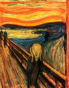 Edvard Munch Posters - The Scream Poster by Pg Reproductions