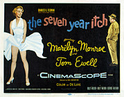 1955 Movies Photo Framed Prints - The Seven Year Itch, Marilyn Monroe Framed Print by Everett