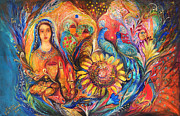 Kabbalah Art - The Shabbat Queen by Elena Kotliarker