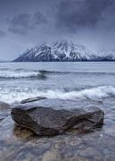 Tourist Industry Photos - The Shoreline Of Kathleen Lake In Late by Robert Postma