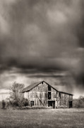 White Barn Framed Prints - The Smell of Rain Framed Print by JC Findley