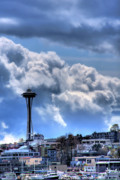 Seattle Art - The Space Needle by David Patterson