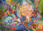Hebrew Paintings - The Spirit of Jerusalem by Elena Kotliarker