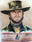Clint Eastwood Art Framed Prints - The Stranger Framed Print by Andrew Read