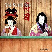 Sushi Posters - The Sushi Bar... Poster by Will Bullas