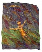 Swimming Tapestries - Textiles - The Swimmer by Sandra  Betts