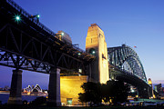 Joannes Framed Prints - The Sydney Harbor Bridge Framed Print by Thomas Joannes