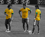 Neymar Photos - The Three Kings by Lee Dos Santos