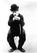 Publicity Shot Photo Prints - The Tramp, Aka Charlie On The Farm Print by Everett