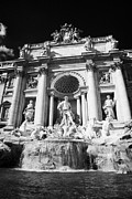 Rome Photos - The Trevi fountain Rome Lazio Italy by Joe Fox