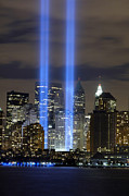 September 11 2001 Metal Prints - The Tribute In Light Memorial Metal Print by Stocktrek Images