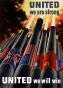Military Posters - The United Nations Fight For Freedom Poster by War Is Hell Store