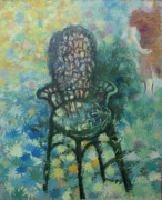 The Moment Painting Originals - The Viennese chair by Alexander Nam