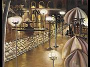 Night Cafe Paintings - The Walkway by Toni  Thorne