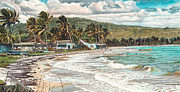 Etc. Painting Framed Prints - The Water Front   Framed Print by Gregory Jules