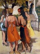 Summer Weddings Paintings - The Wedding by Juliet Mevi-Shiflett