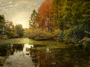 Autumn Landscape Digital Art - The Wetlands by Jessica Jenney