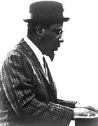 Jazz Pianist Framed Prints - Thelonius Monk 1917-1982jazz Pianist Framed Print by Everett