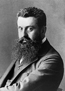 Journalist Framed Prints - Theodor Herzl (1860-1904) Framed Print by Granger