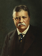 Us Presidents Framed Prints - Theodore Roosevelt - President of the United States Framed Print by International  Images