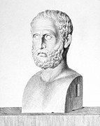 Statue Portrait Photo Prints - Theophrastus Print by Granger