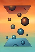 Energy Balls Framed Prints - Thermodynamics, Conceptual Artwork Framed Print by Richard Bizley