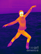 Human Being Posters - Thermogram Of A Skater Poster by Ted Kinsman