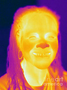 Electromagnetic Spectrum Photos - Thermogram Of A Woman by Ted Kinsman