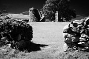 Historic Ruins Photos - Thick Exterior Wall Around The Remains Of The 6th Century Monastic Site At Nendrum On Mahee Island by Joe Fox