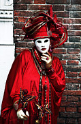 Venice Masks Prints - Thinking Print by John Rizzuto