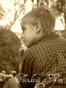 Missing Child Photo Prints - Thinking of you Print by Amanda Eberly-Kudamik